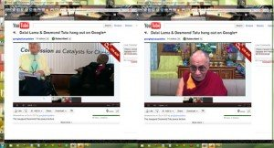 &quot;LiveHangout|DalaiLama|DesmondTutu|Google+|NobelPeacePrize&quot;