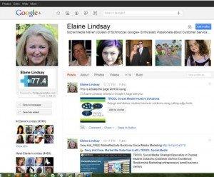 """Elaine Lindsay Personal Profile Page"""