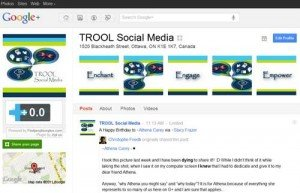 &quot;TROOL Social Media Business Profile Page&quot;