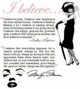 Audrey Hepburn | Marilyn Monroe quotes