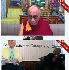 G+ Hangout-Dalia-Lama-Desmond-Tutu-Oct-2011